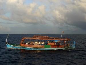 A dhoni in the Maldives. Credit: Nevit Dilmen/cc by 3.0