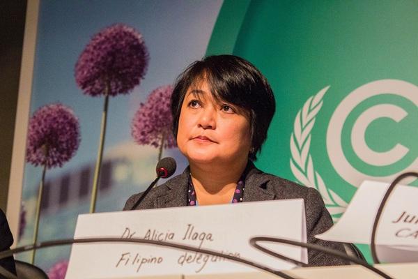 Dr. Alicia Ilaga, climate director of the Philippine agricultural ministry. Credit: Lou Del Bello via SciDev.net