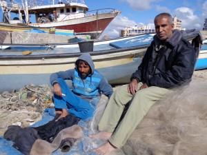Fathi Said and Mustafa Jarboua, Gazan fishermen who have seen their [...] <a class=