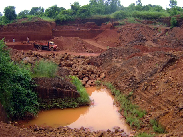 One of hundreds of illegal open-pit iron ore mines in the Bellary District in India that operated with impunity until a 2011 ban put a stop to the practice. Credit: Stella Paul/IPS