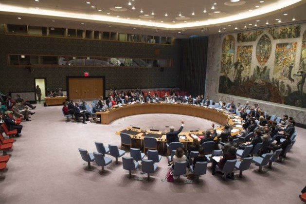 The Security Council unanimously adopts resolution 2219 (2015), extending the arms embargo on Côte d'Ivoire by a year, until April 30, 2016. Credit: UN Photo/Eskinder Debebe