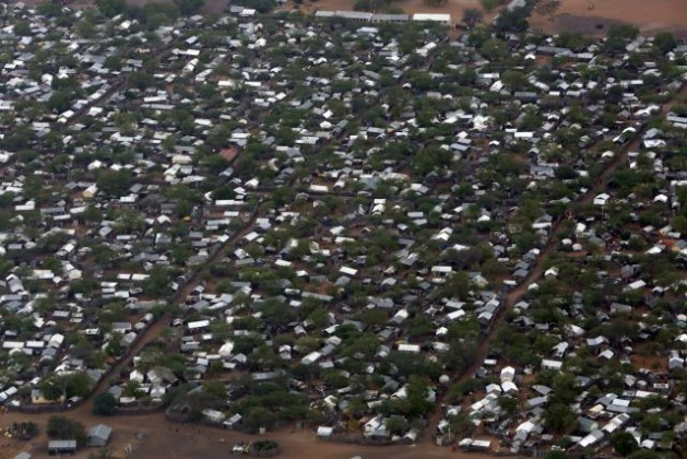Aerial Views of Ifo 2 Refugee Camp in Dadaab, Kenya. Credit: UN Photo/Evan Schneider