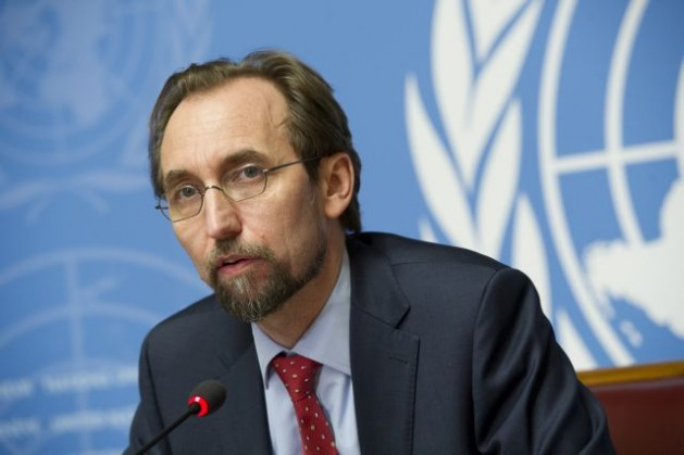 Zeid Ra'ad Al-Hussein, UN High Commissioner for Human Rights, addresses a press conference on the investigation into alleged sexual abuse of children in the Central African Republic by foreign military troops during the French military intervention in that country on May 8, 2015. Credit: UN Photo/Violaine Martin