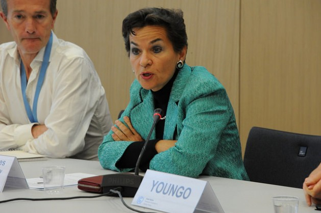 High Level Youth Briefing on June 11, 2015 with the UNFCCC Executive Secretary, Christina Figueres. Credit: UNClimateChange/cc by 3.0