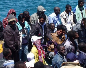Migrants at Lampedusa, Italy. Credit: Ilaria Vechi/IPS