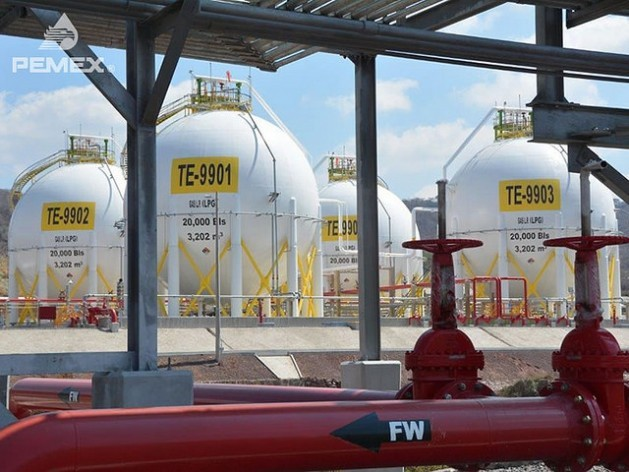 A Pemex gas distribution terminal. Shale gas will account for an estimated 45 percent of Mexico's natural gas output by 2026. Credit: Pemex