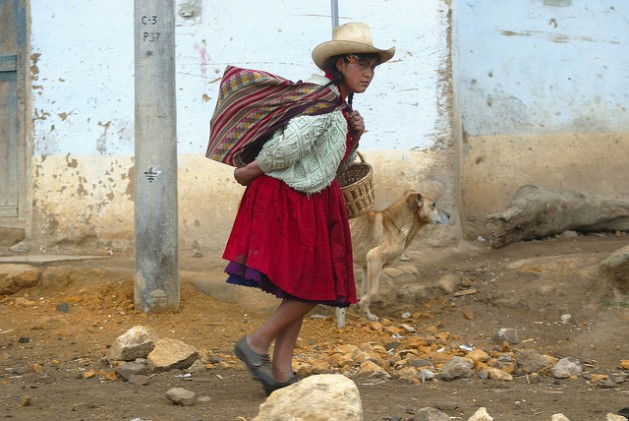 A villager from Combayo, Peru. Citizen engagement is critical for the country to achieve its ambitious climate action plans. Photo courtesy of La República /IPS
