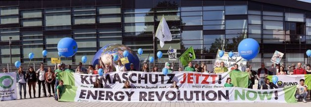 NGOs call for an energy revolution at the Bonn talks. Credit: IISD