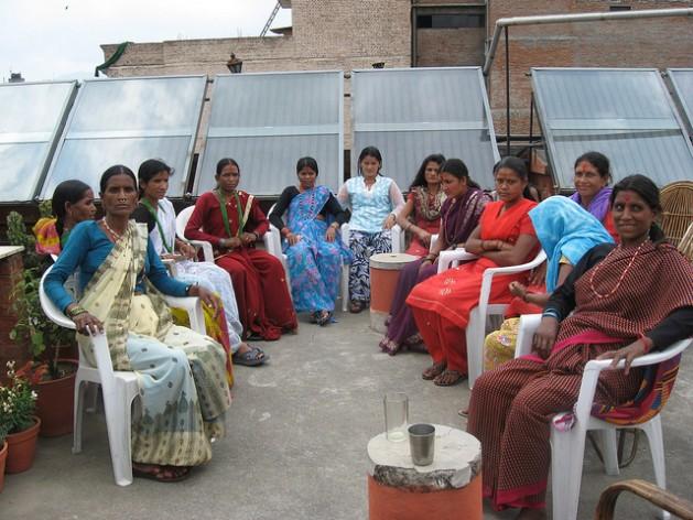HIV-positive women gather in Kathmandu, Nepal for a skills training. Credit: Bhuwan Sharma/IPS