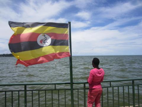 A Ugandan transgender woman in a town near Kampala, shortly before she fled the country. She left to escape the police harassment and violence she experienced after the passage of the Anti-Homosexuality Act. © 2014 Human Rights Watch