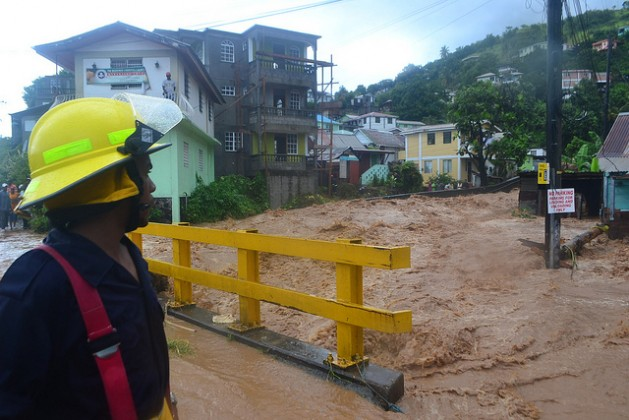 Severe flooding is one of many devastating effects of climate change, as the Caribbean island nation Dominica experienced in 2011. Credit: Desmond Brown/IPS