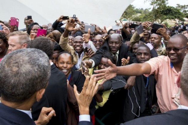 President Barack Obama greets embassy staff and their families during a meet and greet at the U.S. Embassy in Nairobi, Kenya, July 25, 2015, before going to Addis Ababa. Credit: Official White House Photo by Pete Souza
