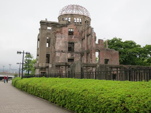 The Atomic Bomb Dome serves as a memorial to the people who died in the Aug. 6, 1945 bombing of Hiroshima, Japan. The building was the only structure left standing near the bomb's hypocentre. Credit: Courtesy of Barbara Dunlap-Berg, UMNS