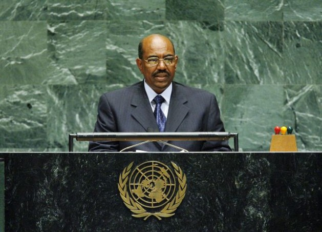 Omar Hassan Al-Bashir, President of the Republic of the Sudan, addresses the general debate of the sixty-first session of the General Assembly, at UN Headquarters in New York in 2006, prior to his indictment by the ICC. Credit: UN Photo/Marco Castro