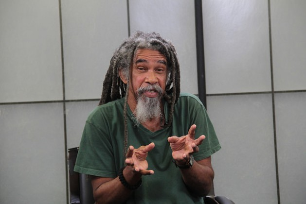 """Award-winning St. Lucian poet Kendel Hippolyte says human beings would treat the environment differently if they see the Earth as their """"mother"""". Credit: Kenton X. Chance/IPS"""