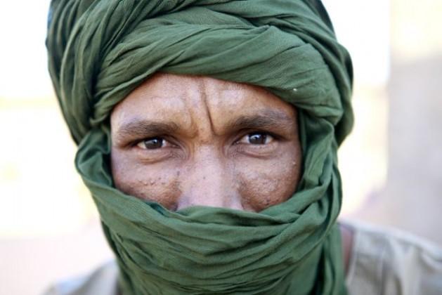 "Portrait of a man inside the ""27 February"" Saharawi refugee camp near Tindouf, Algeria. 24 June 2010. Credit: UN Photo/Martine Perret"