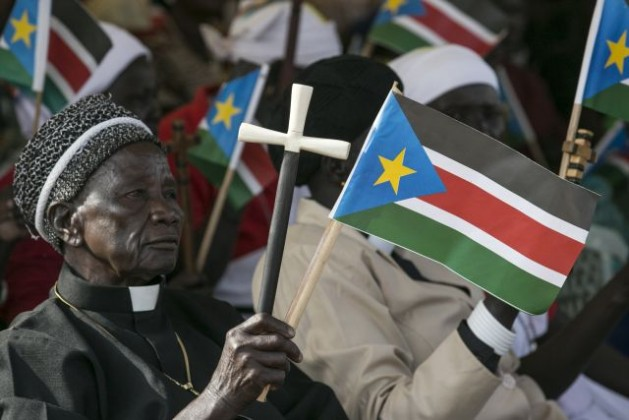 A man at a political rally held by Salva Kiir, President of the Republic of South Sudan, in Juba, March 18, 2015. Credit: UN Photo/Isaac Billy