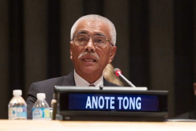 Anote Tong, President of the Republic of Kiribati, addresses the High-level Event on climate change in July 2015. Credit: UN Photo/Devra Berkowitz