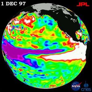 The 1997–98 El Niño observed by TOPEX/Poseidon. - en.wikipedia.org