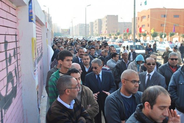 Queuing up to vote in Cairo. Credit: Khaled Moussa al-Omrani/IPS.