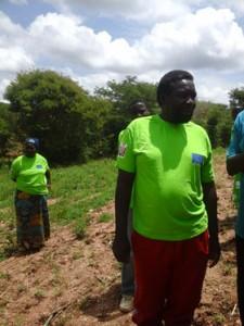 Farmer Mweene with wife at the far left back. Credit: Friday Phiri/IPS