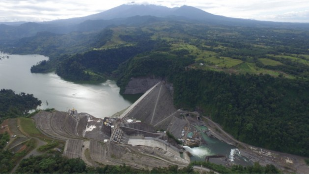 The Reventazón Hydroelectric Project, Costa Rica's fifth hydropower dam, will begin to operate in the first half of this year. Credit: Instituto Costarricense de Electricidad