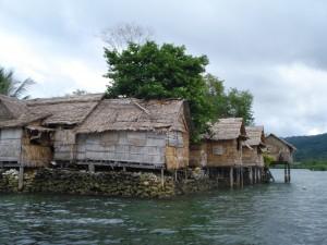 Sea level rise threatens Raolo island in the Solomon Islands. Credit: Catherine Wilson/IPS.