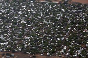 An aerial view of the Ifo 2 Refugee Camp in Dadaab, Kenya. Credit: UN Photo/Evan Schneider.