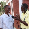 A journalist conducts an interview in Kenya. Credit: Isaiah Esipisu/IPS