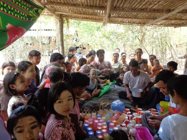 Members of Myanmar's Htee Tan village community. Credit: Sara Perria/IPS