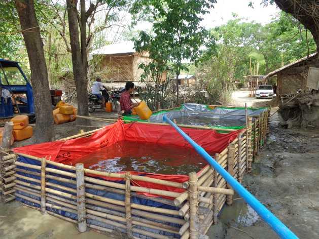 A temporary water tank in Myanmar's Dry Zone. Credit: Sara Perria/IPS