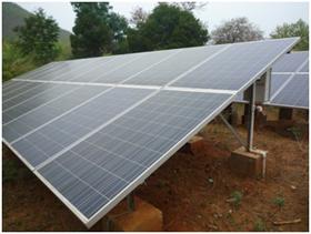 Solar panels installed in Burangia village cluster, Kandhamal, Odisha