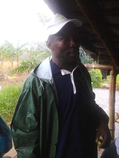 Albert Kanga on his plantain farm. Credit: Friday Phiri/IPS