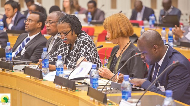Delegates at the Sixth Conference on Climate Change and Development in Africa (CCDA VI), held from Oct. 18-20, 2016 in Addis Ababa, Ethiopia. Credit: Friday Phiri/IPS