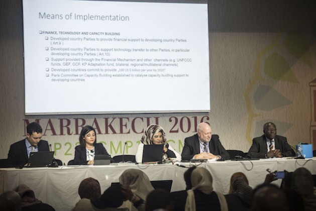 A panel discussion on means of implementation post-COP 21. Credit: Friday Phiri