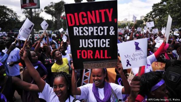 Rally against violence to women in 2014 in Nairobi, Kenya