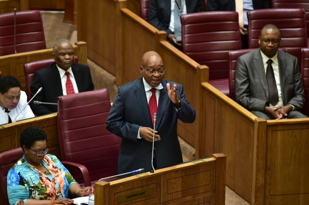 President Jacob Zuma answers questions at the National Council of Provinces on Oct. 25, 2016. During the session, he said Operation Phakisa helped drive investments worth R17 billion toward ocean-based aspects of the economy since 2014. Courtesy: Republic of South Africa