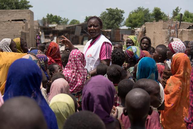 Conflict-affected populations in Banki October 2016, copyright: Stéphane Reynier de Montlaux/MSF