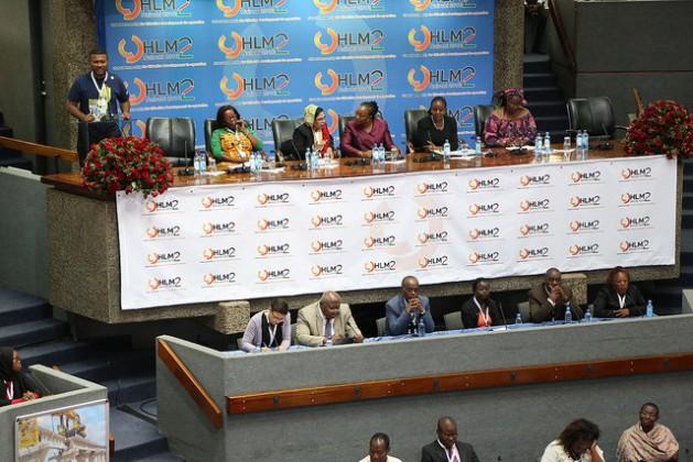 Delegates participate in one of the women's forums during the Nov. 28-Dec. 1 HLM2 Nairobi meeting. Credit: Robert Kibet/IPS