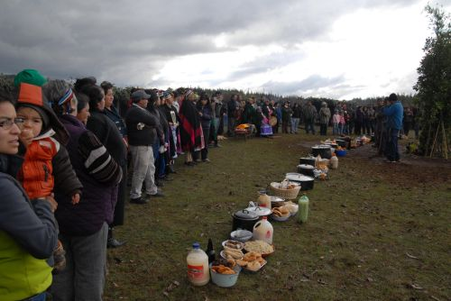 Members of the Mapuche people during one of their demonstrations defending their rights, in particular their claim to theirancestral lands, in the region of La Araucanía, Chile. Credit: Fernando Fiedler/IPS