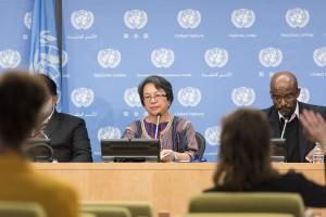 Victoria Tauli-Corpuz, UN Special Rapporteur on the Rights of Indigenous Peoples. Credit: UN Photo/Mark Garten.