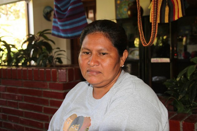 Francisca Ramírez, the head of the peasant movement that is leading the fight against the construction of an inter-oceanic canal in Nicaragua, which has made her a victim of harassment by the administration of Daniel Ortega. Credit: Luis Martínez/IPS