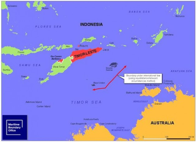 Timor-Leste wants the permanent maritime border between itself and Australia to lie along the median line. This would give sovereign rights to Timor-Leste over the potentially-lucrative Greater Sunrise oil and gas fields. Source: Timor-Leste's Maritime Boundary Office