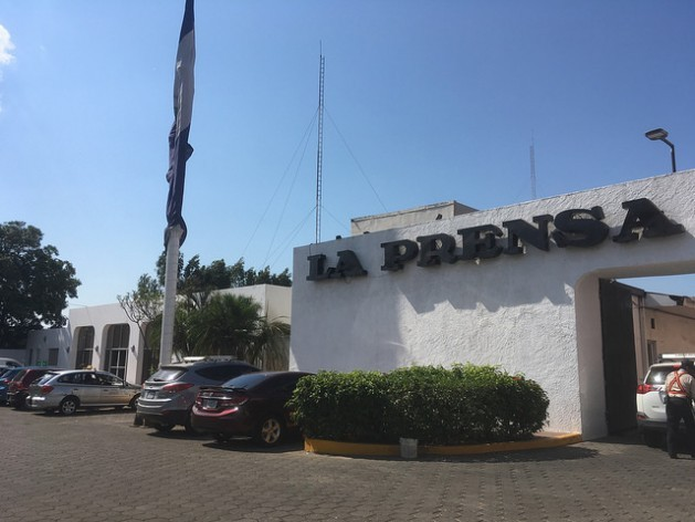 The offices of La Prensa, the oldest newspaper in Nicaragua and the leading media outlet critical of the Daniel Ortega administration, has suffered negative economic consequences as a result, as have other opposition outlets. Credit: José Adán Silva/IPS