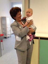 Theresa Panuccio, at childcare centre of FAO headquarters. Credit: FAO