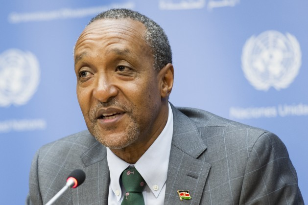 Macharia Kamau is Kenya's Permanent Representative to the United Nations. UN Photo/Mark Garten.