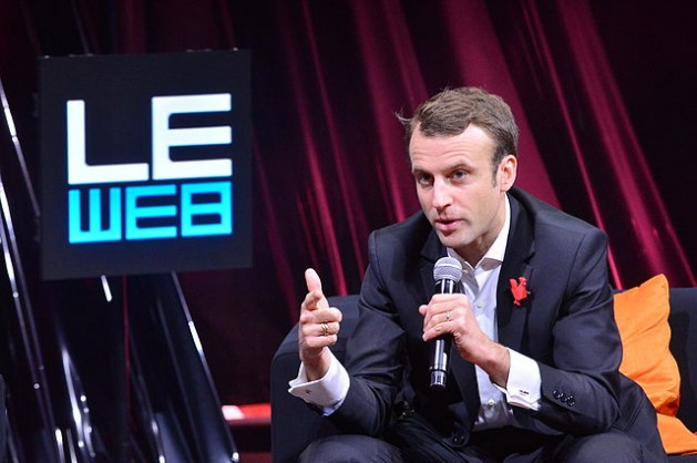 Emmanuel Macron speaking at LeWeb 2014. After New Caledonia's second polling, Macron secured a slight majority of 52.57 percent against Le Pen's 47.43 percent. Credit: Official LeWeb Photos/ CC BY 2.0