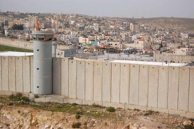 Israel's separation barrier as seen from Al Ram. Credit: Jillian Kestler-D'Amours/IPS