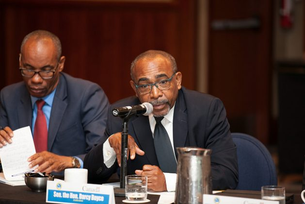 Minister with responsibility for energy of Barbados, Darcy Boyce (right). Credit: Desmond Brown/IPS
