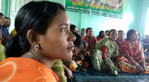 Four women's groups from Mohalbari, Surail and Damoir villages in Northern Bangladesh participated in a two-day leadership and mobilization training in Dinajpur to spread the initiative of successful women-led cooperatives improving the livelihood of the rural poor. Among the 51 participants, most were landless women coming from Hindu, Muslim and indigenous communities. Credit: IFAD